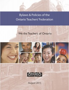 OTF Bylaws and Policies - Aug 2015