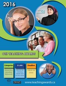 OTIP Teaching Awards 2016 Button