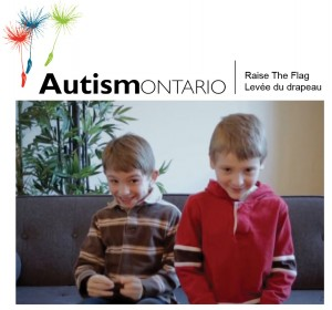 autism ontario raise the flag graphic